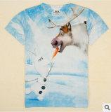 Les enfants de l'habillement T-shirt de la glace et neige Pays nouvelle d'usure pour les enfants à l'été 2014 avec 3 D de l'impression garçons T-shirts en gros avec manches courtes pour les enfants