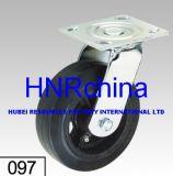 Черные резиновые колеса самоустанавливающегося колеса для тяжелого режима работы