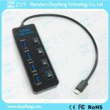 4 schakelaars 4 de Hub van het Type C USB 3.0 van Haven (ZYF4006)
