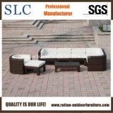 Mobilia di vimini esterna/sofà d'angolo del giardino/sofà moderno del giardino (SC-B6516)