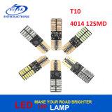 Diodo emissor de luz sem erros T10 claro W5w 168 de Canbus farol T10 4014 12SMD do diodo emissor de luz de 194 W5w para carros dos automóveis