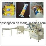 Na máquina de embalagem de borda para snacks