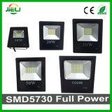 10With20With30With50With100With150With200W SMD5730は黒い屋外LEDの洪水ライトを細くする