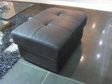 Moda sofá de cuero Negro con el cantón