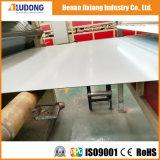 光沢のある白い広告の掲示板の物質的なアルミニウム合成のパネルAludong