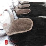 Extensões de cabelo humano Lace Encerramento