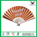 Personalizadas de papel español ventiladores de la mano plegable