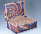 De matte Abstracte Houten Sigaar Humidor van het Patroon