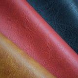 Tela poli revestida gravada do couro sintético da esponja do PVC da bolsa do saco