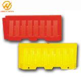 プラスチックトラフィック2m水バリケードを吹く耐久の黄色く赤いPE