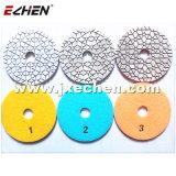 Super 3 Etapa Diamond Polimento molhado Pad de pedras