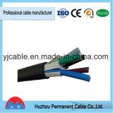 Cabo de controle 3X0.75mm2 do núcleo do cabo de controle do PVC do cabo elétrico de Kvv multi 5X1. mm2 7X 1.5mm2