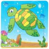 6 sortierte Art-hölzerne zackige Tier-Puzzlespiel-Kind-Spielwaren