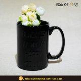 Diseño de Moda negro taza cerámica con alivio Word