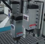 Trois chefs pneumatique CNC routeur ATC avec système à vide