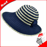 Chapéu flexível da mulher do chapéu de Sun do chapéu da mistura de cor