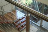 304/316 поручней балюстрады Railing/провода кабеля нержавеющей стали/деревянных верхних