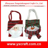 クリスマスの装飾(ZY14Y476-1-2-3 28X17CM)のクリスマスキャンデー袋ファブリック工場中国