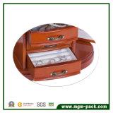 高い光沢のある贅沢な木の宝石類の収納箱
