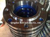 Фланец/алюминий частей точности CNC подвергая механической обработке, латунная часть/алюминиевая вковка/выковали сталь углерода фланца