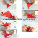 DIY plegado eléctrico volar Avión de papel de regalo para niños
