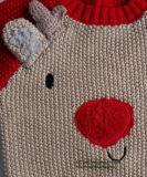 男の子のための子供のセーターのIntarsiaのトナカイ