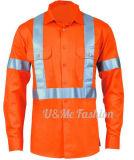 Vêtements de travail r3fléchissants d'uniforme de sûreté de couche de combinaison faite sur commande de qualité