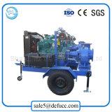 O grande volume Misturado-Flui bomba de água Diesel centrífuga com reboque