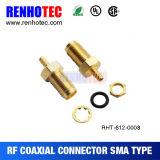 Conector femenino de ángulo recto de la antena de la tuerca SMA WiFi del conector SMA del RF