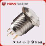 Interrupteur à bouton-poussoir inoxydable instantané en acier inoxydable Anti-Vandal Anti-Vandal IP65