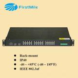Gigabit Beheerde Industriële Poe Ethernet van de Vezel Schakelaar
