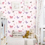Papel de parede da princesa Desenhos animados Projeto Miúdo Washable para a decoração da parede