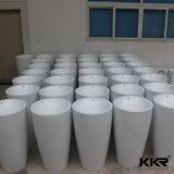 浴室の固体表面の円柱軸受けの洗面器