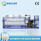 Máquina diretamente evaporada comestível do bloco de gelo de 3 toneladas de Designe da humanização