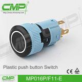 Interruptor de pulsador plástico con la lámpara iluminada potencia