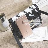 Ladies Fancy Stripe Crossbody Bag Alta qualidade PU Shoulder Bag para compras Sy8152