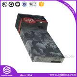 Caja de papel negro de alta calidad envasado micrófono con auriculares auriculares