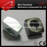 Noix carrée galvanisée d'acier du carbone DIN557