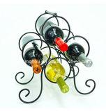 Estante moderno del almacenaje del vino del metal de 4 botellas para el hogar