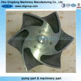 Turbine chimique centrifuge de pompe d'alliage titanique/acier inoxydable/acier du carbone/fer de moulage