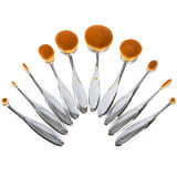 Professional 10PCS Oval Toothbrush Maquillage gros Brush Kit