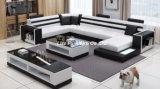 Canapé en cuir de grande taille avec table à café (LZ-3316)