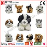 Realistische Gevulde het Liggen van het Stuk speelgoed van de Pluche van het Stuk speelgoed van de Hond Zachte Dierlijke Levensechte Hond voor Jonge geitjes