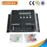 60Un écran LCD du contrôleur de charge solaire PWM 12V/24V La tension du système