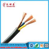 Cabo flexível do condutor do núcleo 0.5mm/0.75mm/1mm/1.5mm de Rvv 3 fio elétrico do multi
