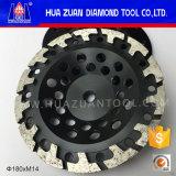 Roda de moedura pressionada quente do copo da aglomeração do segmento da forma T de Huazuan 7 de ''