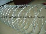 安全のための電流を通されたかみそりの有刺鉄線