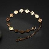 De populaire Vrouwen vormen het Glimlachen van het Roestvrij staal van Juwelen de Armband van de Charme van het Gezicht