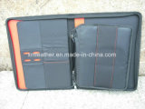 Zipper Business Leather Portfolio Dossier de dossier Organisateur PU