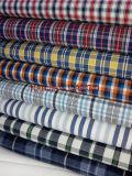 Tela teñida del hilo de algodón para las camisas